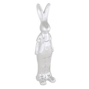 Exner GmbH Hase Gaudylvory, stehend, groß, 34 cm, Porzellan-silber