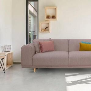 andas 3-Sitzer »Maroon«, in skandinavischem Design, mit losen Kissen, rosa, Struktur grob