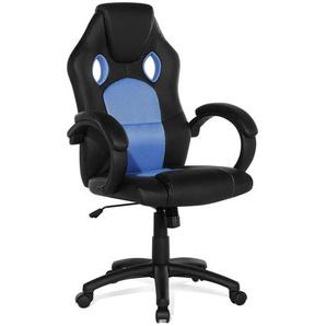 Bürostuhl schwarz/blau höhenverstellbar REST