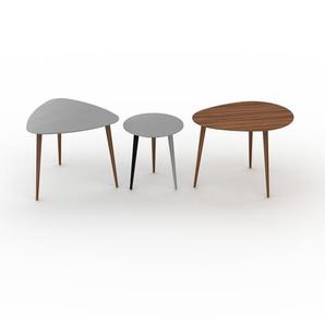 Couchtisch Grau - Eleganter Sofatisch: Beste Qualität, einzigartiges Design - 59/40/67 x 50/44/50 x 61/40/50 cm, Konfigurator