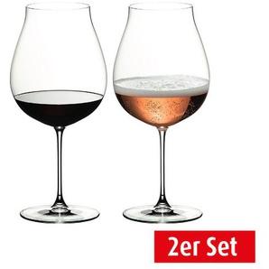 RIEDEL Weinglas im 2er Set für je 790 ml New World VERITAS Pinot Noir/Rose Champagner