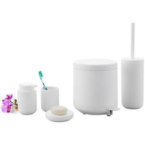 Badserie UME, UME Mülleimer, Weiß,Zone Denmark Ume Treteimer, Pedaleimer, Kunststoff mit Soft-Touch