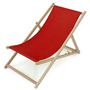 Liegestuhl Aus Holz | 2er SET! | Dreistufig Verstellbar | Rot | 11 Farben |  Sonnenliege Gartenliege Strandliege