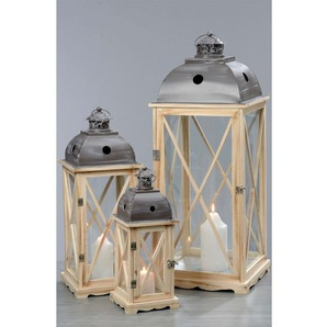 BOLTZE Laterne H 59 BRISTROL Kiefer/Metall/Glas