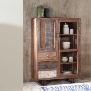 Vitrinenschrank aus Recyclingholz Loft Design