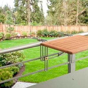 MERXX Balkonhängetisch »Holz«, Eukalyptusholz, klappbar, 60x40 cm
