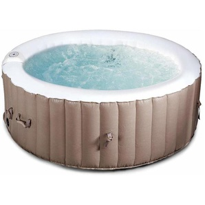 COSTWAY Whirlpool aufblasbar, Massage Spa Pool, mit Heizfunktion, 4 Personen, 180cm, rund