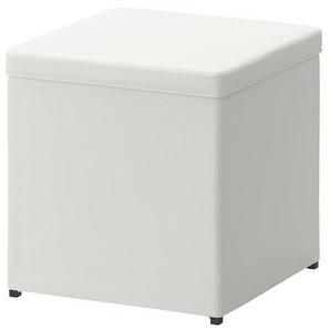 IKEA Hocker BOSNÄS Sitzgelegenheit mit Aufbewahrung - BxTxH 36x36x36cm - div. Farben (Ransta weiss)