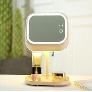 qianfeng Beleuchteter Schminkspiegel Desktop mit Licht LED 180 Umdrehung USB, der Tabelle mit Vier Funktionen für Touch Screen Eitelkeitslampe mit Lagerung auflädt