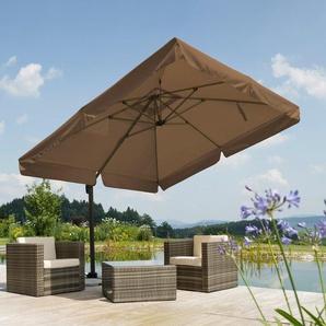 SCHNEIDER SCHIRME Sonnenschirm »Rhodos«, 300x300 cm, inkl. Schutzhülle und Ständer, ohne Wegeplatten