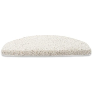 Shaggy Stufenmatten Sphinx | hochflorige Stufenmatte | 23,5 x 65 cm | creme | 15er-Set - CASA PURA