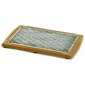 BELARDO Fußmatte Entrada, Vorleger in braun/silber, Fußabtreter aus Teak Teakholz, Holzmatte mit FSC-Zertifizierung, ca. 60 x 40 x 4 cm