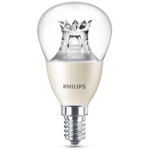 Philips Leuchtmittel LED Tropfen E14 klar, 6 W, WarmGlow, dimmbar