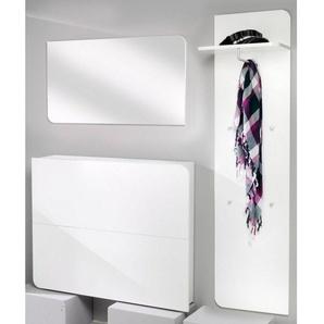 Places of Style Garderoben-Set »Goccia«, (Set, 3-tlg), grifflose Optik