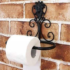 Schwarz Toilettenpapierhalter Metall