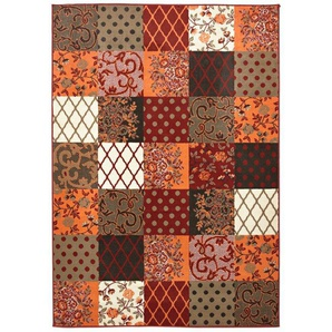 Webteppich, orange, Gr. 190/280 cm,  home, Material: Polypropylen