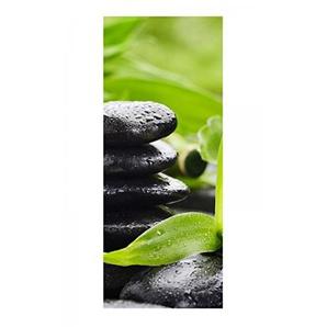 Türaufkleber Wellness Stein Yoga Bambus Massage Tür Bild Türposter Türfolie Türtapete Poster Aufkleber 15A1020, Türgrösse:67cmx200cm