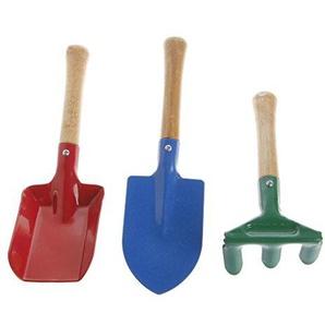 Manyo 3PCS Kinder Kinder Mini Garten Werkzeug Set Maurerkelle Harke Garten Schaufel Haus Garten Strand Garten Lieferungen Spielzeug