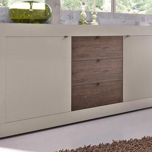 Lc Sideboard, beige, pflegeleichte Oberfläche, mit Schubkästen, FSC®-zertifiziert