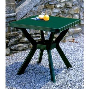 Quadratischer Tisch, Maße: 80 x 80 cm, Farbe: Nilgrün