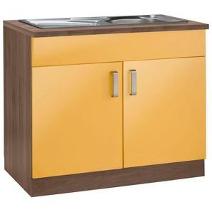 wiho Küchen Spülenschrank »Tacoma« Breite 100 cm, orange