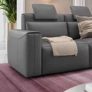 Leder Couch VEGA mit Sitzverstellung Relaxsofa