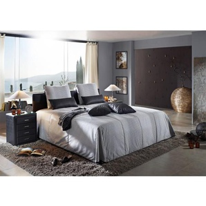 bugatti Bett Bezug Grau ca. 180 x 200 cm Taschenfederkern H2/H3