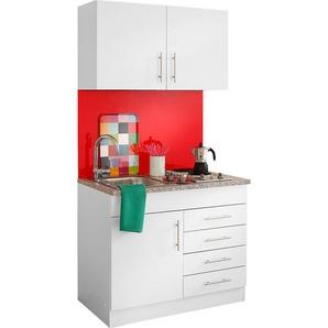 HELD MÖBEL Küchenzeile Toledo mit E-Geräten Breite 100 cm