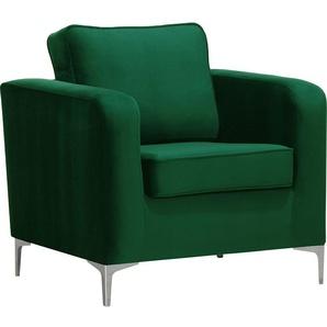 Design-Sessel Velours Opalgrün HARRY