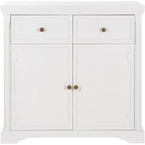 Kommode Home affaire »Vilma« Breite 90 cm, weiß, Gr. onesize, HOME AFFAIRE, Material: Metall, Holz