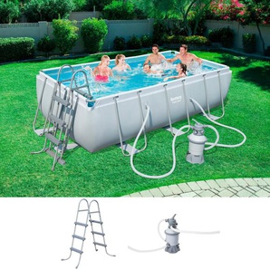 BESTWAY Set: Framepool »Power Steel™«, 3-tlg., BxLxH: 201x404x100 cm