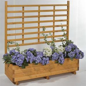 Blumenkasten mit Rankgitter Gmunden 136x37x136cm honig