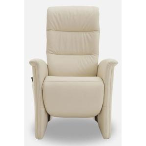 MONDO TV-Sessel CASIO Lederbezug Beige mit Aufstehhilfe