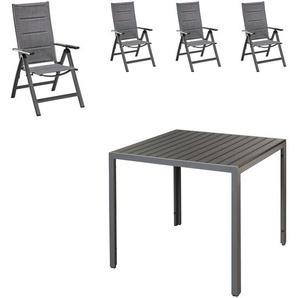 Gartenmöbel-Set Chicago/Miami (1 Tisch, 4 Stühle)