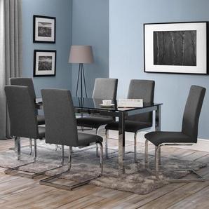 Essgruppe Tempo mit 6 Stühlen
