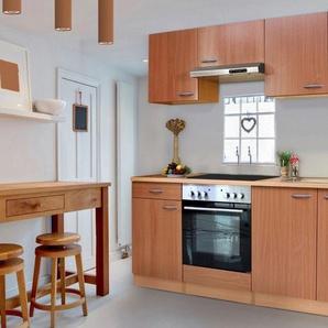 Respekta Küchenzeile mit Glaskeramik-Kochfeld »Basic«, Breite 210 cm