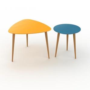 Couchtisch Blau - Eleganter Sofatisch: Beste Qualität, einzigartiges Design - 59/40 x 47/44 x 61/40 cm, Konfigurator