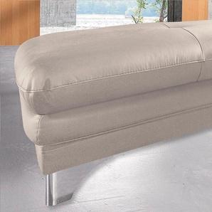 Cotta Hocker, beige, B/H/T: 95x46x65cm, hoher Sitzkomfort