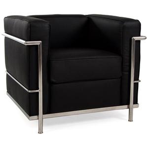 LC2 Sessel Le Corbusier - Schwarz
