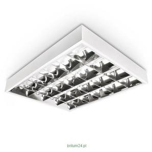LED Rasterleuchte, LED Einbauleuchte, Rastereinlegeleuchte, LED Bürolampe, 4x10W T8 LED, Schnellmontage, Deckenleuchte, Bürobeleuchtung (OHNE T8 Leuchtmittel)