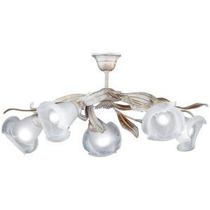 Deckenlampe»Valencia 21245«, weiß, Gr. onesize, HONSEL LEUCHTEN, Material: Metall, Glas