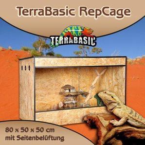 TerraBasic RepCage 80x50x50, Seitenbelüftung, schwarze ABS Kanten