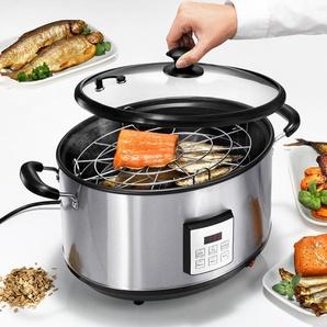 Elektrischer Räuchertopf, Räucherofen, Smoker, Edelstahl, bis 2 kg