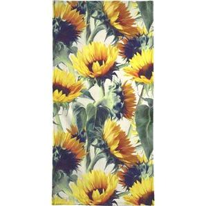 Strandtuch »Sunflowers Forever«, Juniqe, Weiche Frottee-Veloursqualität