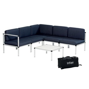 Inflair Lounge-Set Superior, Sitzgruppe faltbar, Lounge-Sofa Beige