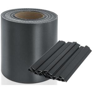 PVC Sichtschutzstreifen | Für Gittermatten-Zäune | Anthrazit | 19 cm x 35 m - CASA PURA
