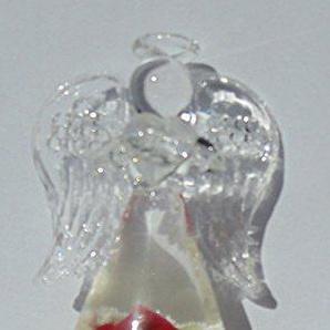 Dreamlight Rosenengel aus Glas in verschiedenen Farben (rot)
