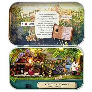 igemy DIY Miniatur 3D Puppenhaus Puppenhaus Kit für Box Theater Trilogie Grüner Wald (B)