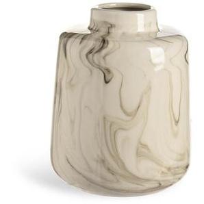 Vase Marmoroptik, Keramik, D:14,5cm x H:18cm, natur