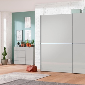 Schwebetürenschrank 3 Breiten »dayton«, grau, Höhe 216 cm, Breite 250cm, FSC®-zertifiziert, set one by Musterring